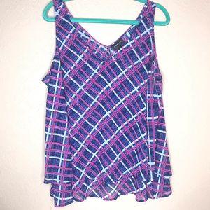 LANE BRYANT sleeveless sheer blouse size 18